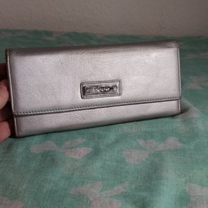 BEBE silver wallet